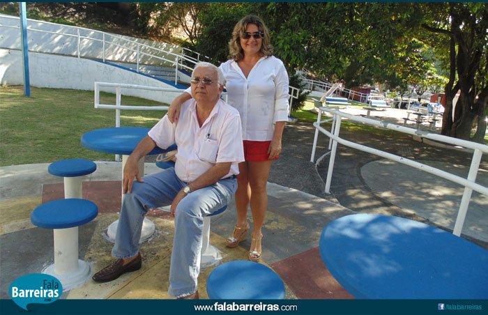 Sr. Toninho e sua esposa, Maria de Lurdes   Foto: Ascom Secretaria Cidade Sustentável