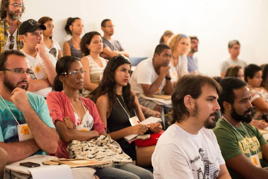 Plateia do curso de direção de fotografia, com Matheus Rocha