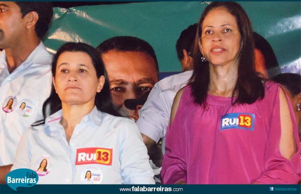 Jusmari Oliveira, candidata a deputada federal e Kelly Magalhães, candidata a deputada estadual, formam a dupla JK | Foto: Osmar Ribeiro