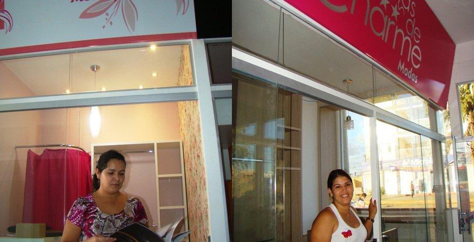 Fernanda Silva dos Santos, empresária CCLEM e Gisélia Aparecida Marcolim, lojista CCLEM