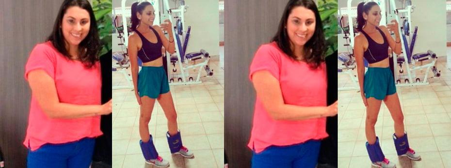 Cindy aumentou de peso quando foi morar em Brasília depois perdeu 25kg   Foto: Arquivo pessoal