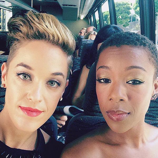 Morelli e a atriz Samara Wiley   Foto: Reprodução/Instagram
