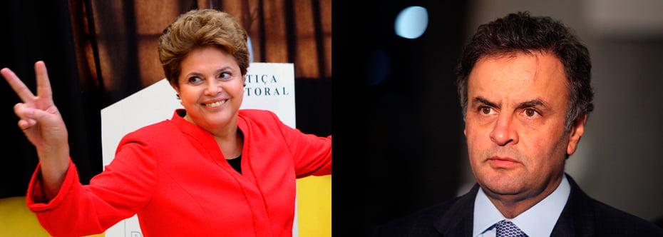 Dilma Rousseff leva vantagem nas duas pesquisas, fora da margem de erro   Fotos: Reprodução