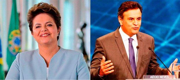 Dilma Rousseff e Aécio Neves se enfrentam pela presidência no segundo turno   Foto: Reprodução