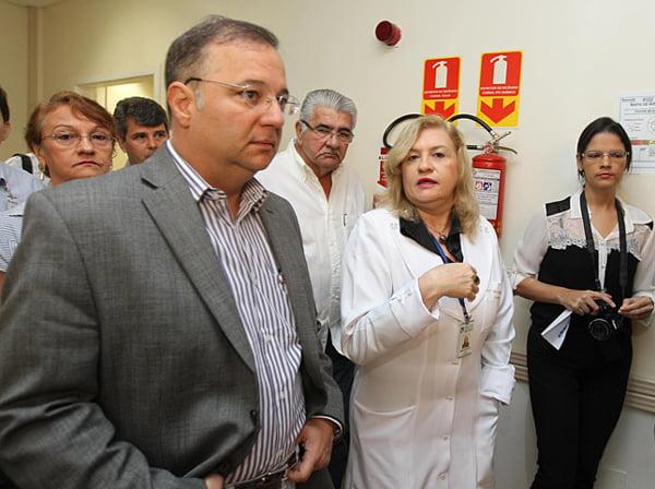 Secretário visitando o HO em Barreiras | Foto: Ascom Sesab