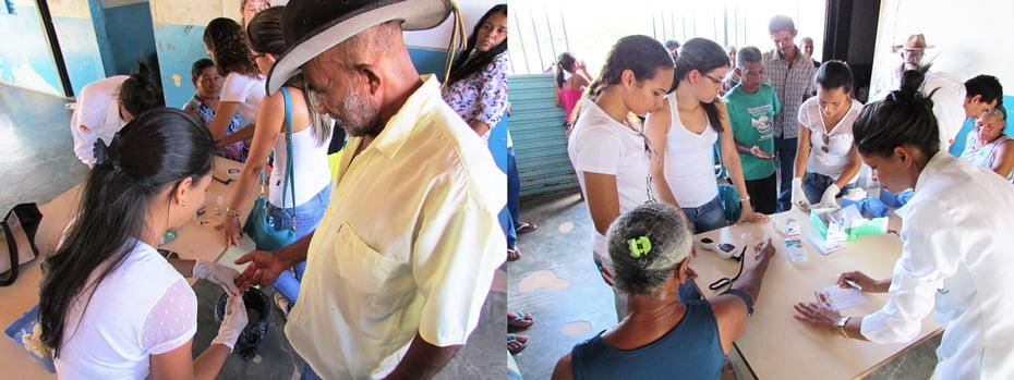 Estágio de acadêmicos de Enfermagem da Fasb na ILha da Liberdade | Fotos: Araticum