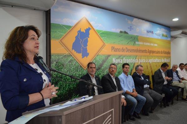 Ministra Kátia Abreu apresenta o plano em Luis Eduardo Magalhães | Foto: Virgília Vieira