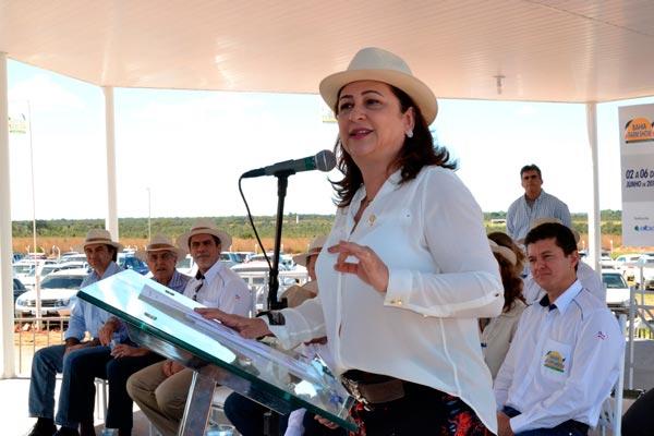 Ministra Kátia Abreu disse que o governo federal está disposto a trabalhar lado a lado com o produtor   Foto: Araticum