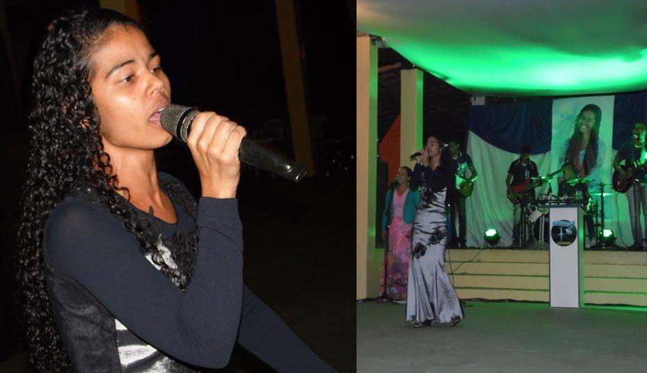 Aline Gama brindou o público no Country Clube com belos louvores   Fotos: Osmar Ribeiro/Falabarreiras