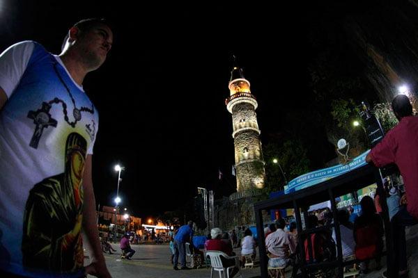 A torre e as grutas ganharam iluminação cênica em led | Fotos: Alberto Coutinho/GovBA