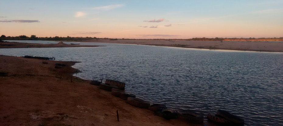 Esta é a atual situação do Velho Chico no município de Barra | Foto: Arivaldo
