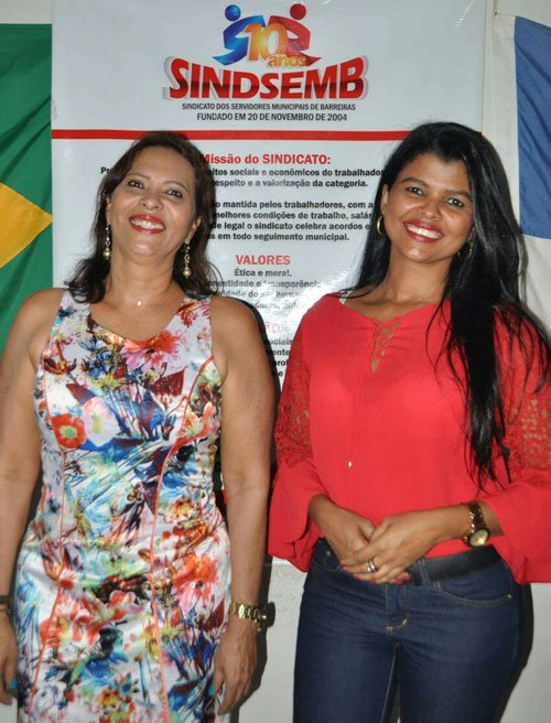 Carmélia da Matta e Katiuscia Carvalho continuam na direção do Sindsemb   Foto: Divulgação