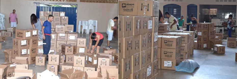 Barreiras arrecadou cerca 5,6 mil quilos de alimentos | Fotos: Virgília Vieira/Ascom Abapa