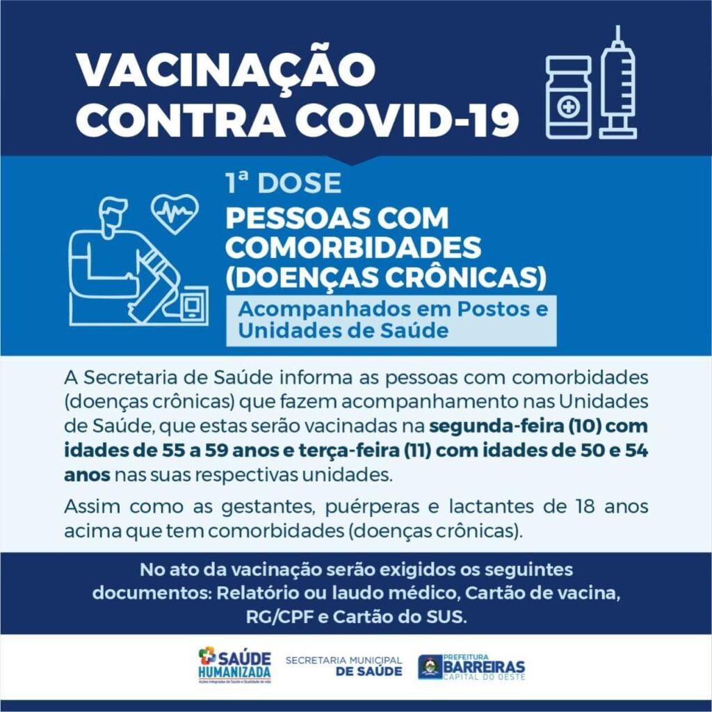 Gestantes, puérperas e lactantes de Barreiras receberão vacina contra COVID-19 na segunda (10)