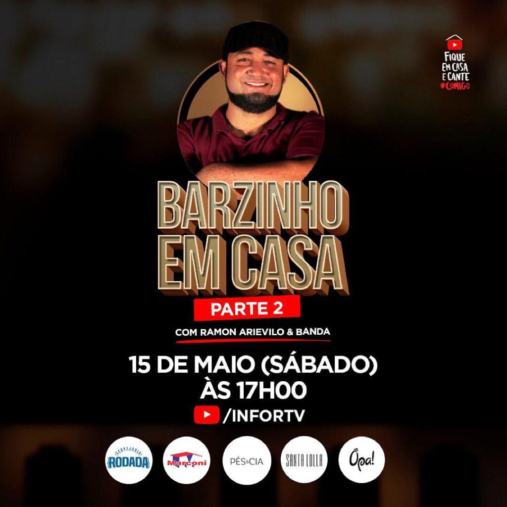 Live Barzinho em Casa promete agitar este sábado (15)
