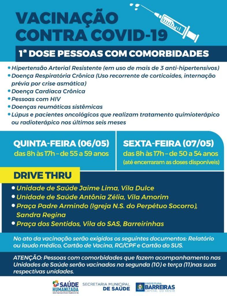 Pessoas com doenças crônicas começam a receber vacina contra COVID-19 em Barreiras