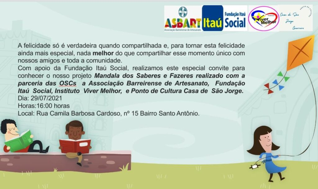 """Projeto """"Mandala dos Saberes e Fazeres"""" realiza oficinas voltadas para crianças nesta quinta-feira (29)"""