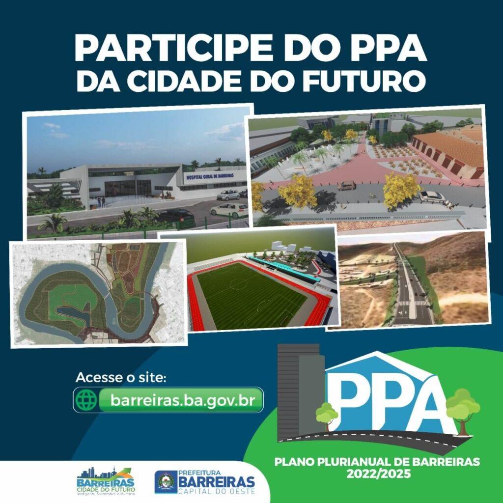 Saiba como participar das oficinas públicas para construção do Plano Plurianual 2022/2025 de Barreiras