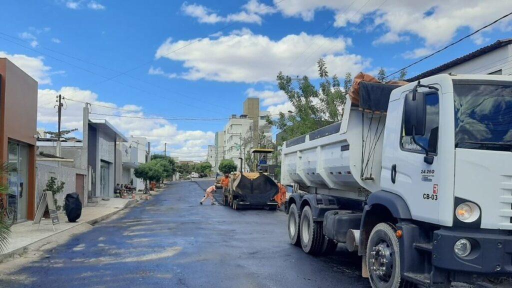 Centro de Barreiras recebe obras de requalificação asfáltica