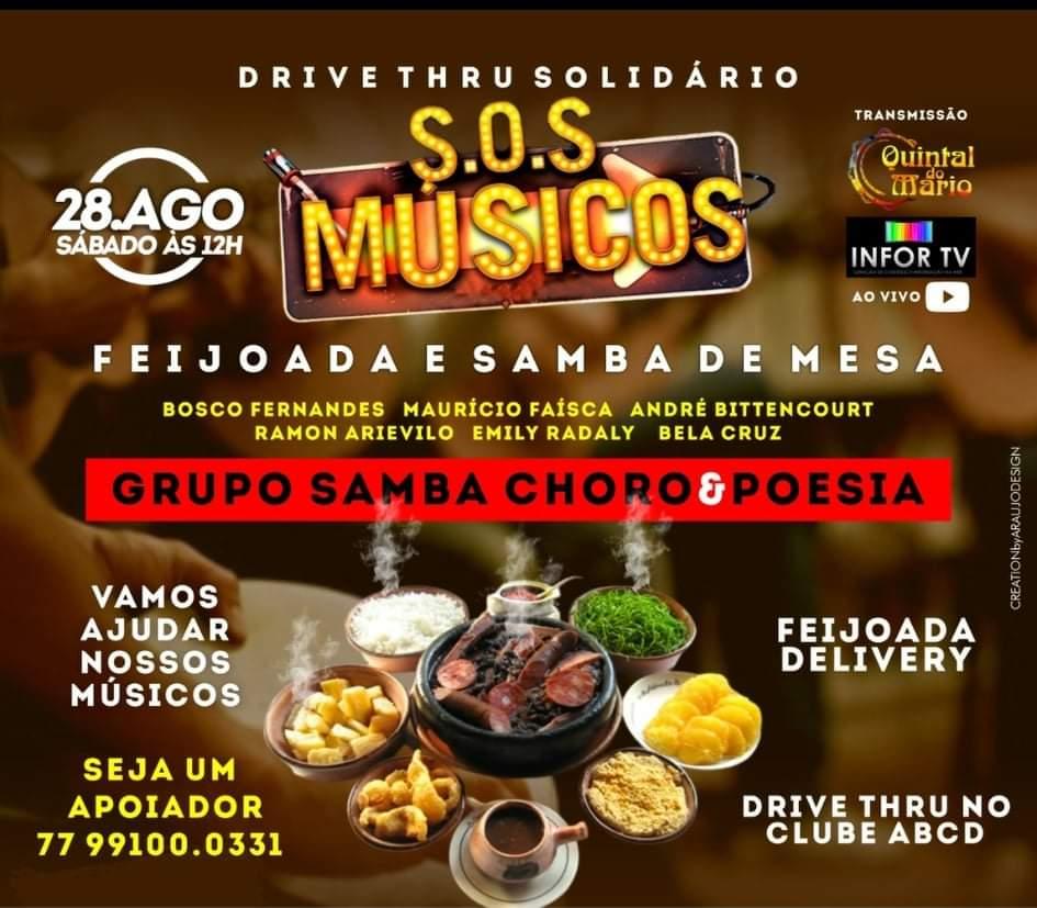 "Campanha ""SOS Músicos de Barreiras"" promove Feijoada Solidária e Samba de mesa"