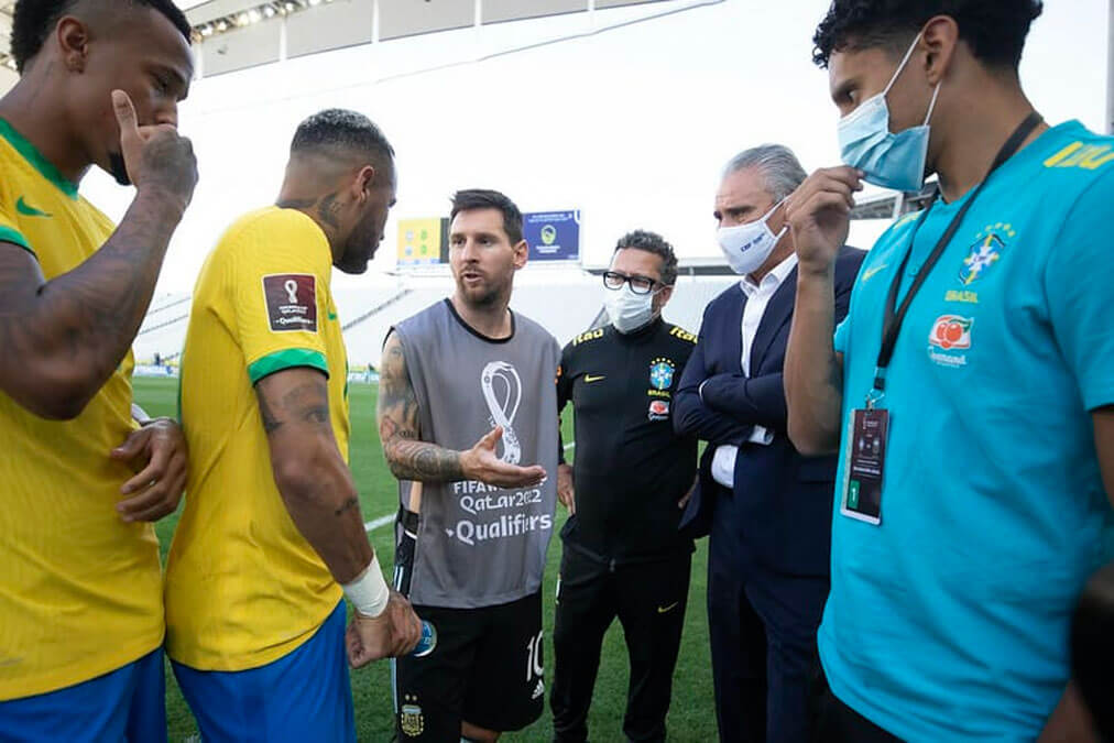 Anvisa interrompe jogo de Brasil e Argentina