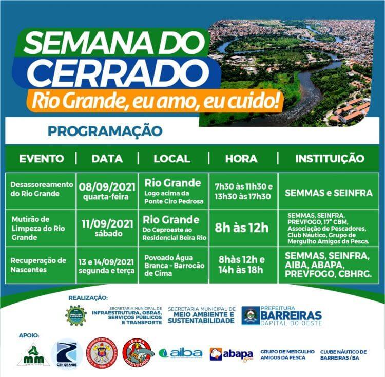 Semana do Cerrado de Barreiras começa na próxima quarta (08). Confira a programação!